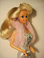 Vintage Barbie Doll-Sparkle Eyes-TNT-Blonde w/Earrings-Ring-Necklace-Dress-Heels