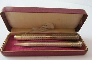 CRITERION 14K GOLD PEN POINT  Fountain Pen & Pencil Set in Orig Case UNIQUE