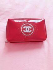 Chanel Glossy Burgundy Make up Pouch Bag VIP gift