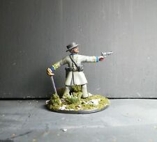 1/32  54mm CONFEDERATE OFFICER #3 - Hand Painted Based  Plastic - ACW - AIP