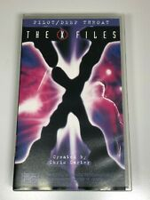 The X Files VHS Video Tape x2 Movies PILOT / DEEP THROAT (NEW)