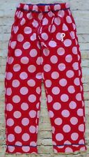 Concepts Sport Red Pink White Polka Dot Phillies Pajamas Pants Women's SZ Small