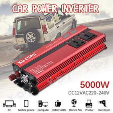 Car 5000W Power Inverter DC 12V to AC 220V Cotnverter Invertor Electronic XYL