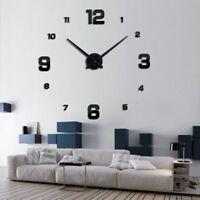 Quartz Wall Clock Watch Horloge Murale Diy 3d Acrylic Mirror sticker Large Home