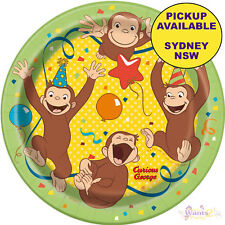 CURIOUS GEORGE BIRTHDAY PARTY SUPPLIES 8 PAPER SMALL DESSERT PLATES