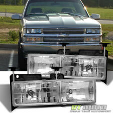 Glass Len 88-98 Chevy/GMC C10 C/K Full Size Pickup Truck Headlights Lamps Lights