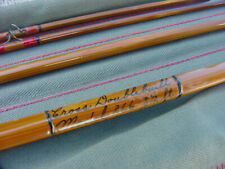 """South Bend Cross Double Built Bamboo Fly Rod 8'-6"""" 3/2 100% original in tube"""