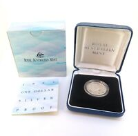 .1993 R.A.M. $1 SILVER PROOF MINT IN ORIGINAL CASE WITH COA.