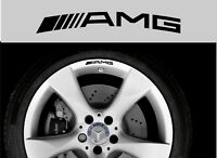 For Mercedes - AMG  8 x Alloy Wheel Rim - CAR DECAL STICKERS - 75mm long