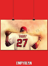 MIKE TROUT LA Angels Anaheim Baseball Poster Original 11x17 Print FREE SHIPPING