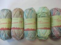 5 x 100g Sirdar Toscanca Colour Effect Cotton D/K Wool/Yarn for Knitting/Crochet
