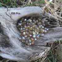 150 Perles de bohème facette 5 mm Tchèque coloris Smoked Topaz AB