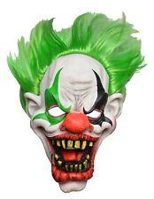 CLOWN HORROR Lattice IT Clown Maschera capo completo con i Capelli Verdi Halloween Fancy Dress