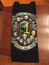 Teefury Men's SMALL Black T-Shirt The Timelords Doctor Who *FIXED PRICE*