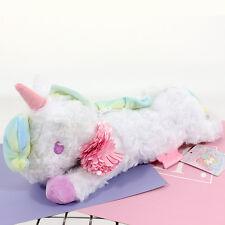 New Little Twin Stars Unicorn White Plush Make Up Pencil Case Kid's Bag Gift Toy