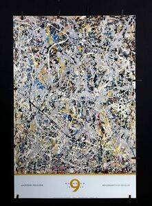 Jackson Pollock - Number 9,1949 - 1980's - Offset Poster