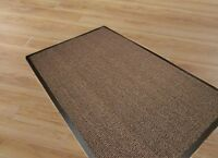 SMALL/LARGE/EXTRA LARGE HEAVY DUTY RUBBER BACKED NON SLIP DOOR/FLOOR MATS,BEIGE.