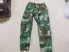 US  ARMY WOODLAND BDU HOT WEATHER PANTS SIZE SMALL-SHORT