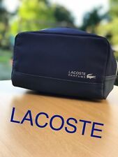 🆕LACOSTE PARFUMS DARK BLUE WASH TOILETRY BAG FOR MEN Brand New Sealed