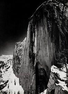 1927 Vintage ANSEL ADAMS Yosemite Monolith Half Dome Mountain Winter Snow 16x20