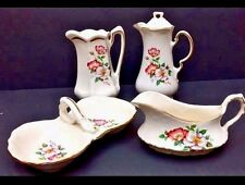 Wild Briar Rose Set Teapot Chocolate Pot House of Webster Made in Texas