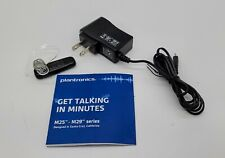 Plantronics M25 Bluetooth Wireless Headset / Charger - Cleaned and Tested