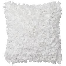 RAFFLES WHITE Ruffle Square Filled Cushion 45cm x 45cm Ultima Logan and Mason