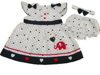 BNWT Baby Girl Navy elephant summer dress outfit clothes 9-12  12-18 18-24 MTH