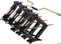 "Set of 4 7500 lb Heavy Duty 24"" RV Trailer Stabilizer Leveling Scissor Jacks"