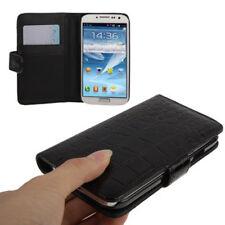 Book Tasche Croco Style für Samsung i9500 Galaxy S4 in schwarz Hülle Case Cover
