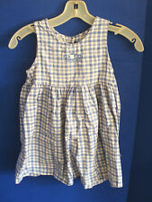 Adorable OSH KOSH Blue & White CHECKED / PLAID Sleeveless DRESS~Girls Size 5