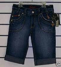 Baby Phat Denim Stretch SHORTS Size 5 Blue Jeans NWT