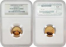 Nepal 2000 Buddha 1/10 oz Gold NGC PF-69