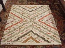 original vintage woolen hand woven Andean three dimensional rug by V sulca 46274
