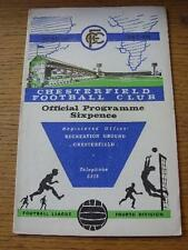 13/11/1967 Chesterfield V Port Vale (équipe de changements). objet en très bon état
