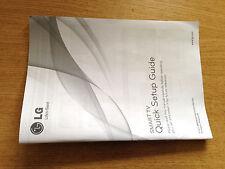GENUINE ORIGINAL LG LA62 LA64 LA66 LA69 LA74 LN61 SMART TV QUICK SETUP GUIDE