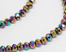 100pcs 2017 New Faceted Jewelry Multicolor 4x6mm Crystal AB Beads nm21u
