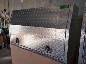 1400x600x820 mm Toolbox Full Recessed Open Door Aluminium Ute Truck tool box