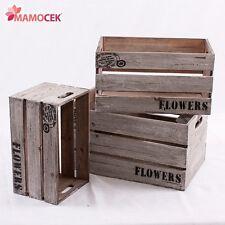 CASSETTA legno grigio frutta piante fiori mensola vetrine allestimenti Shabby