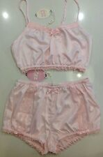 New Peter Alexander Pretty Pink  Boudoir Bloomer & Crop Top  PJ Set