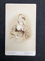 Victorian Carte De Visite CDV: Elegant Lady: Bateman: Canterbury: Named