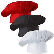 Hyzrz Set Of 3 Pack Adult Chef Hat Adjustable Elastic Baker Kitchen Cooking Cap