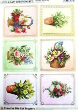 A4 DIE CUT FOILED CARD TOPPER SHEET Just for You Baskets CDT528G Paper Tole