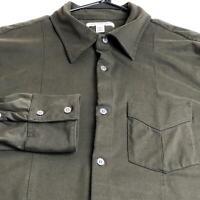 Banana Republic Men's Long Sleeve Button Up Shirt Large L One Pocket Brown
