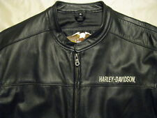 Harley Davidson Leather Motorcycle Jacket H-D Cafe Racer # 1 Sport USA Made M