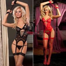 Sexy nuisette pyjamas G-String lingerie dentelle + fausse menottes ESS