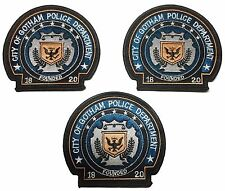 DC's Batman Dark Knight City Of Gotham Police Embroidered Patch Set of 3 Patches
