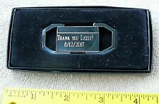 Engravable chrome key ring fob pinch mechanism NEW in box FREE ship