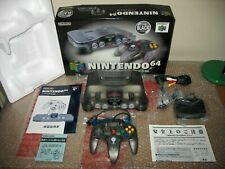 NINTENDO 64 CLEAR BLACK CONSOLE IMPORT JAP!LIKE NEW CONDITION!