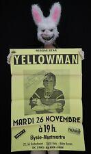 KING YELLOWMAN -  Affiche concert Paris Elysée Montmartre - 1993 - 100 x 70 cm
